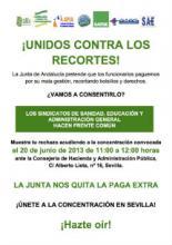 Concentración de funcionarios en Sevilla
