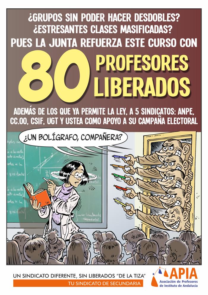 80 nuevos liberados sindicales